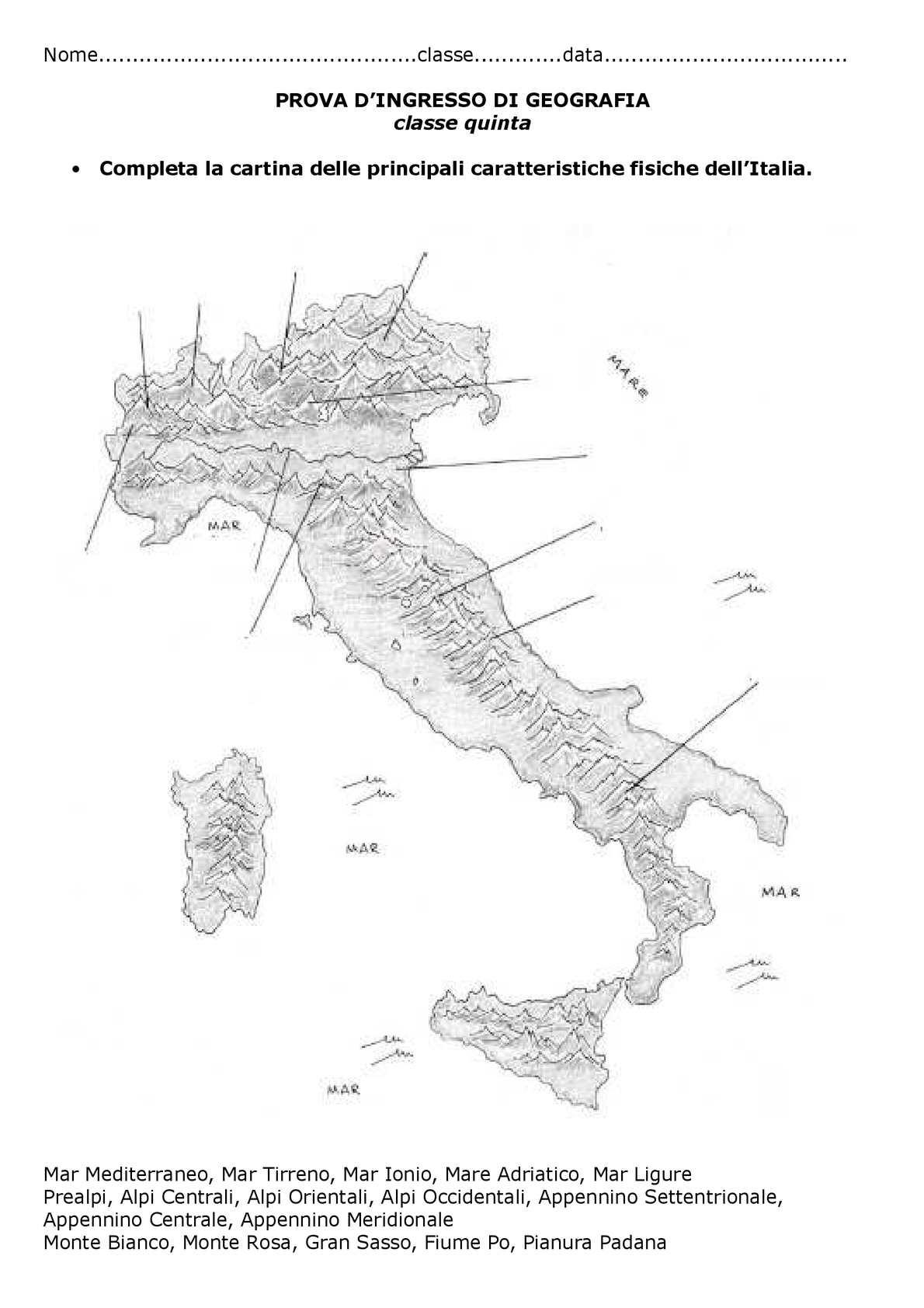 Cartina Dell Italia Alpi E Appennini.Calameo Geografia Quinta