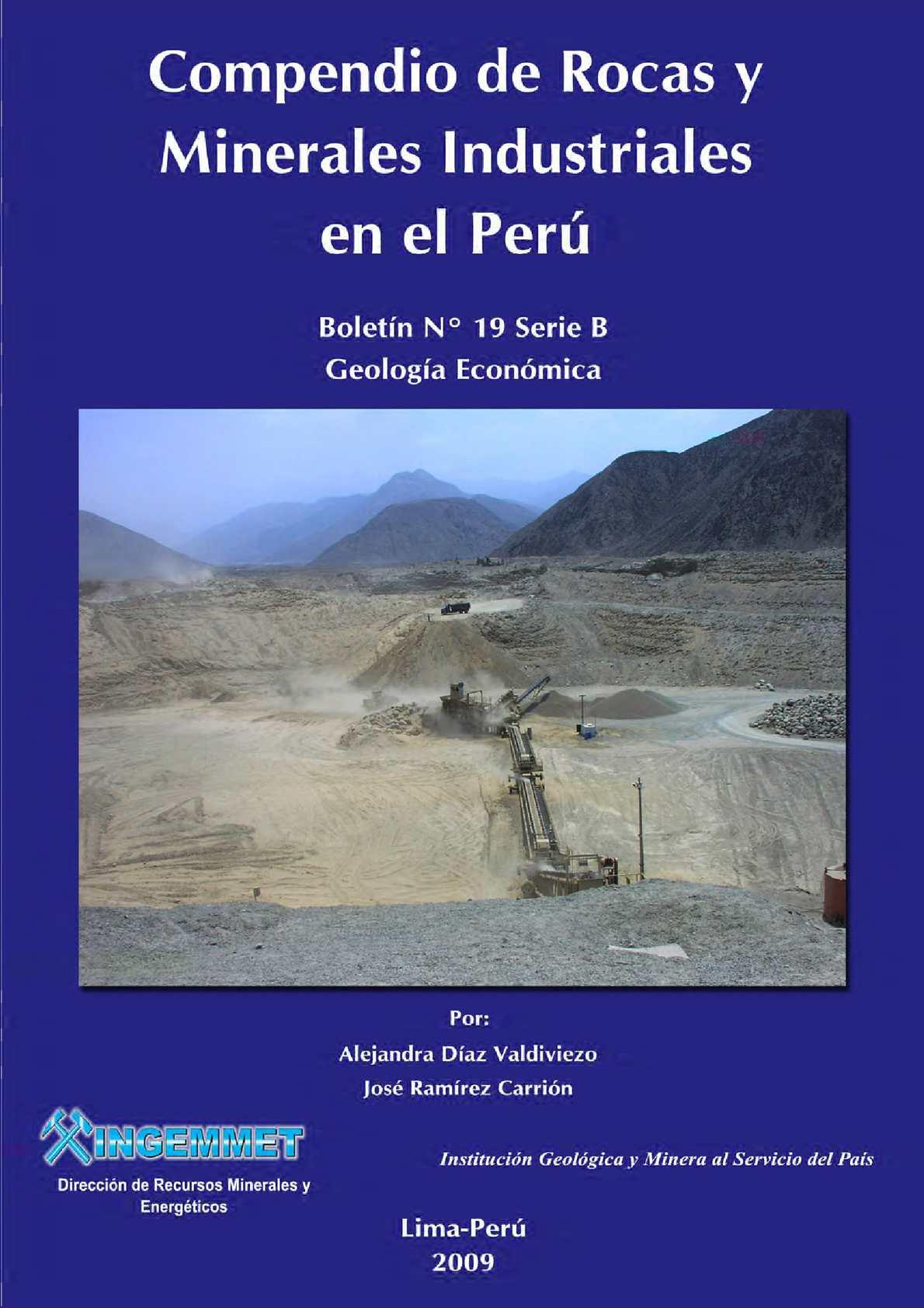 Calaméo - COMPENDIO DE ROCAS Y MINERALES INDUSTRIALES DEL PERÚ  2009 b9d4e6767942
