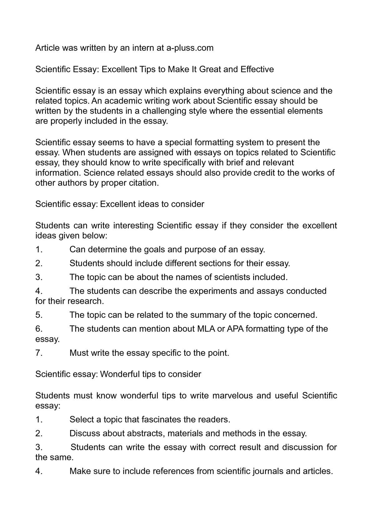 Buy science essay