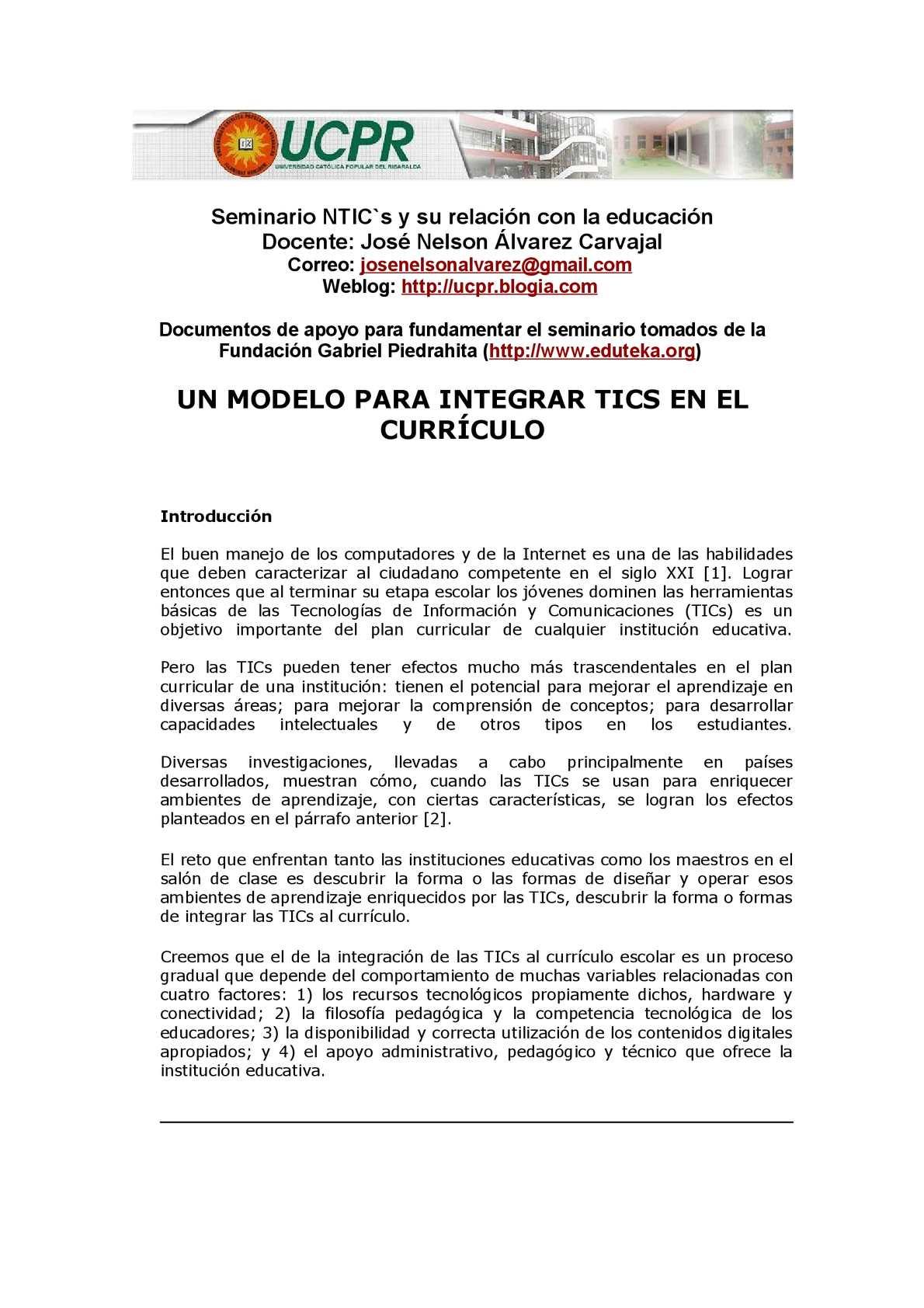 Calaméo - UN MODELO PARA INTEGRAR TICS EN EL CURR CULO 1131e3e1b52