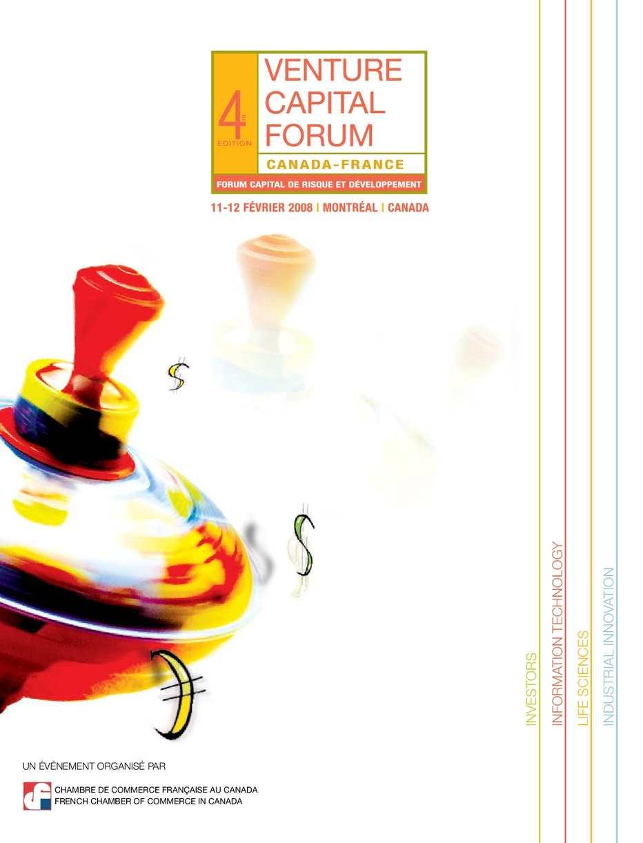 Calaméo Catalogue Forum Capital De Risque 2008
