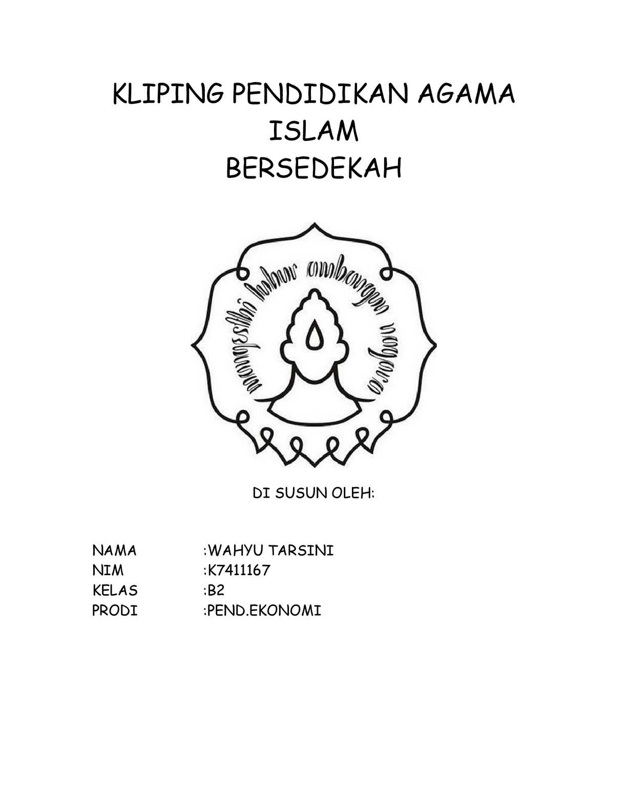 Contoh Kliping Agama
