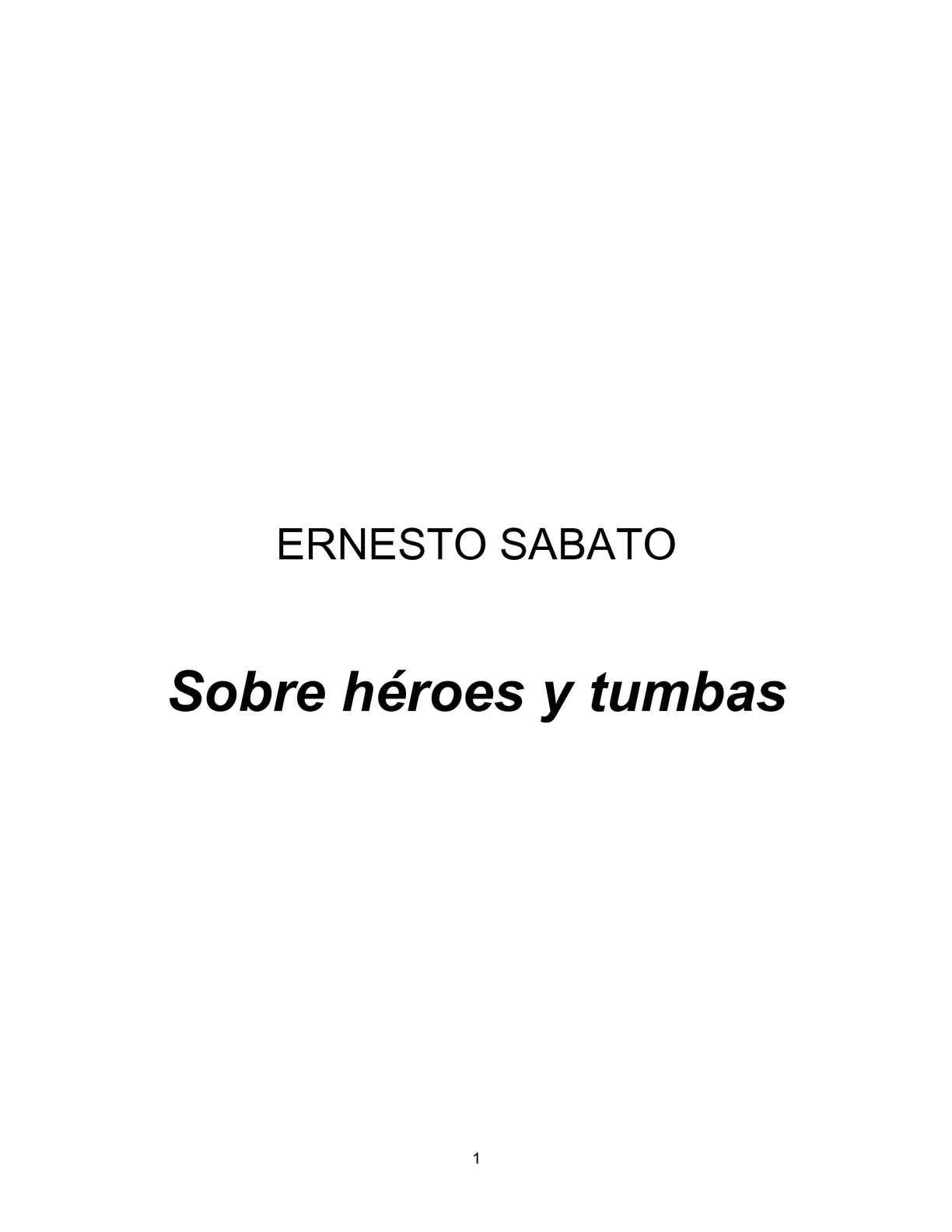Calaméo - Sobre heroes y tumbas. Ernesto Sábato 8a8745a91c66