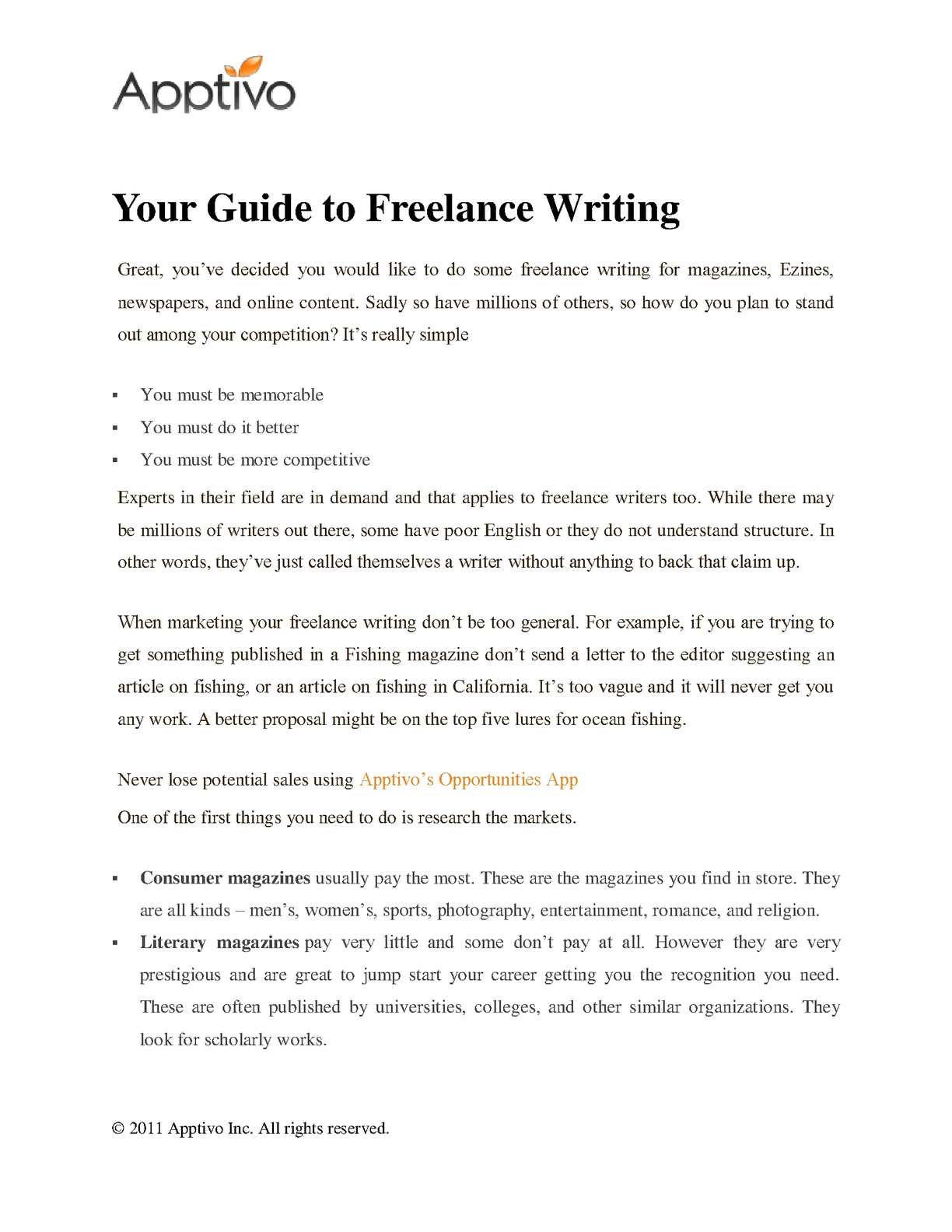 Calaméo - Your Guide to Freelance Writing