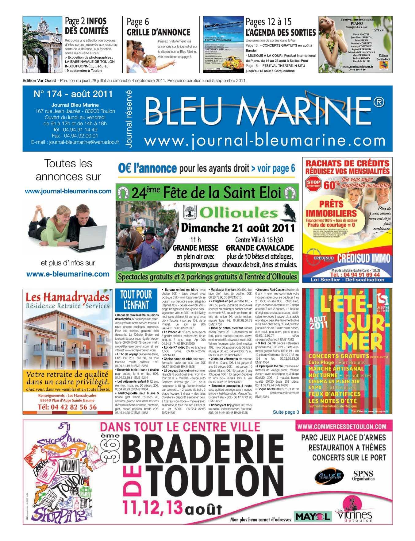 c4eb267f3749a2 Calaméo - journal Bleu Marine août 2011