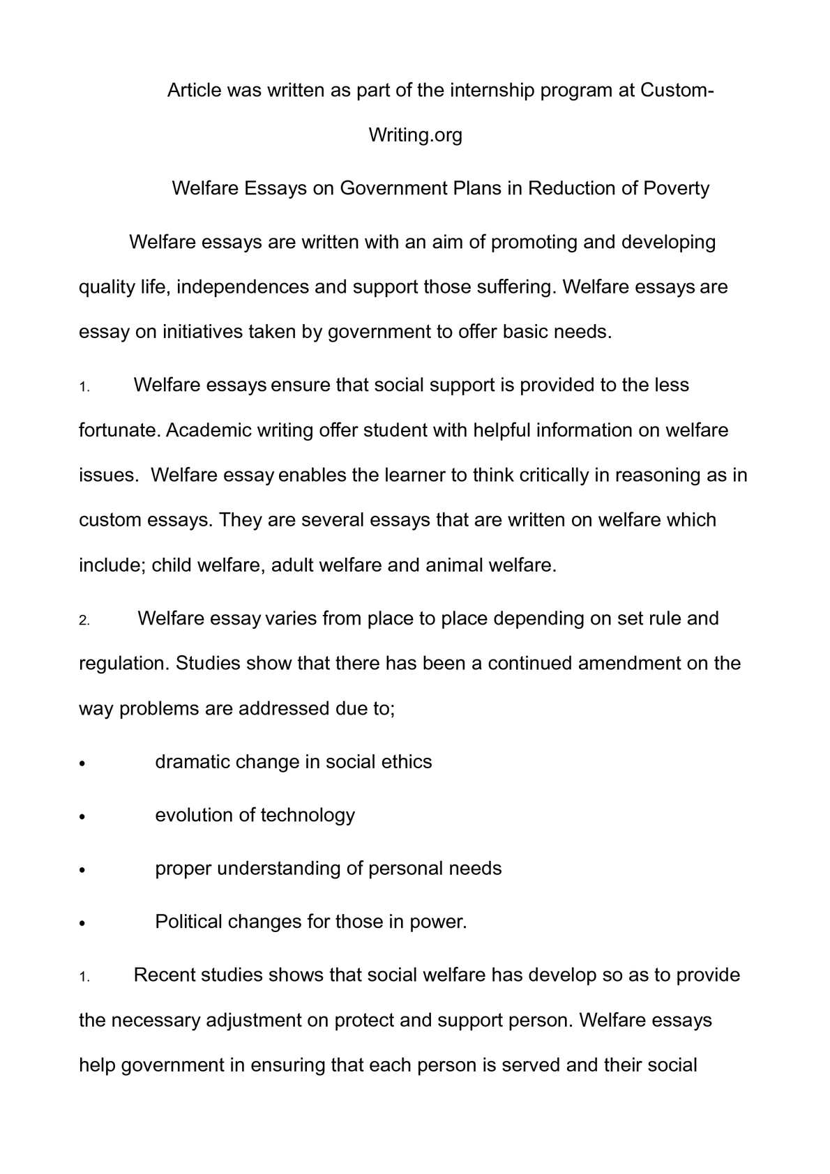 calamo   welfare essays on government plans in reduction of poverty
