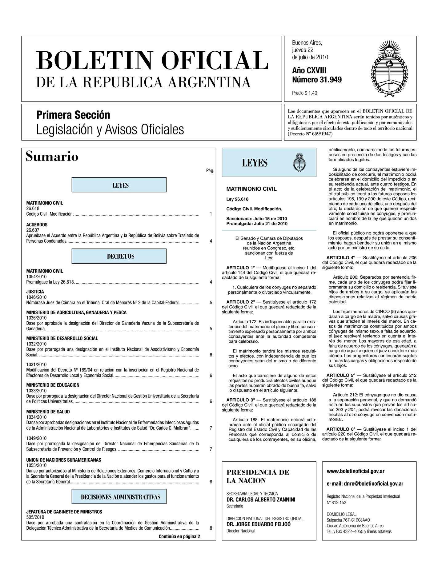 ed0ba743cd Calaméo - Boletin Oficial Ley Matrimonio Civil