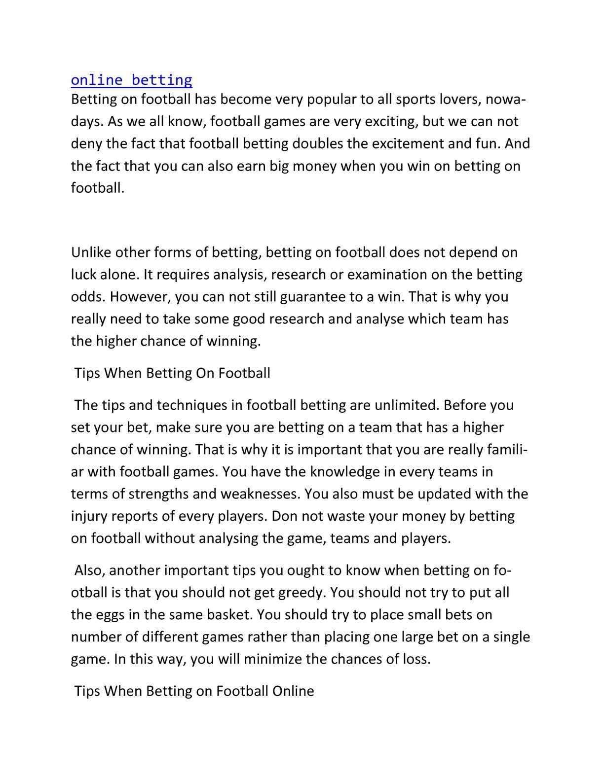 Best football prediction algorithm