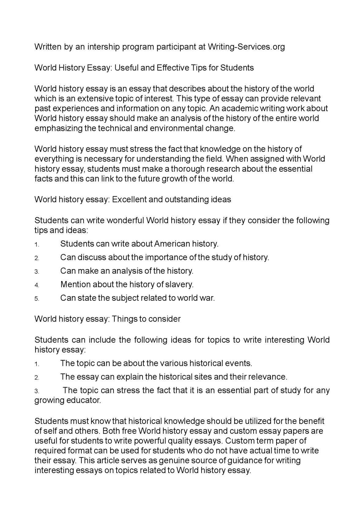 essay what black historical event change america