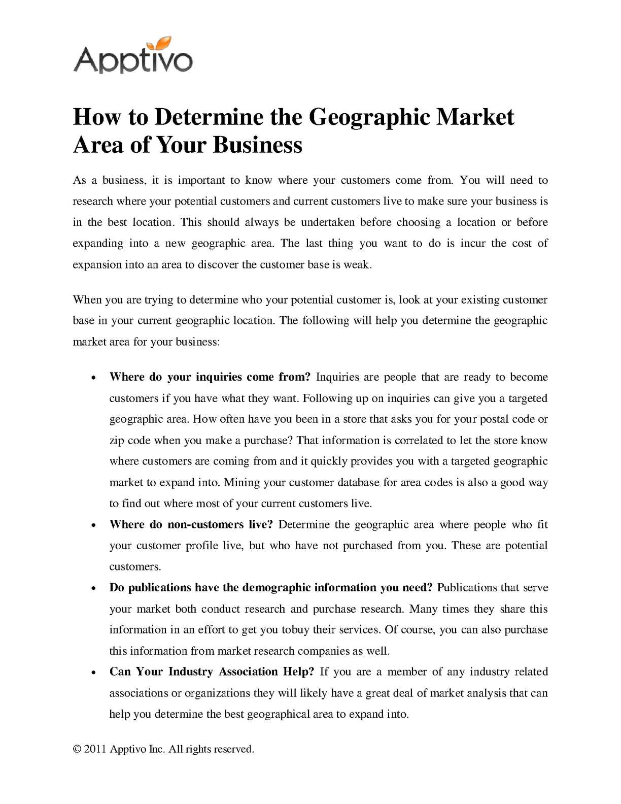 Calaméo - How to Determine the Geographic Market Area of