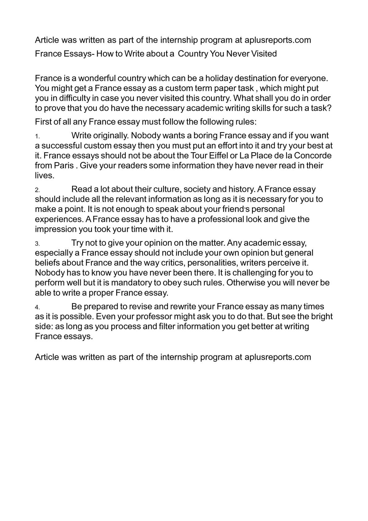 essay on france country
