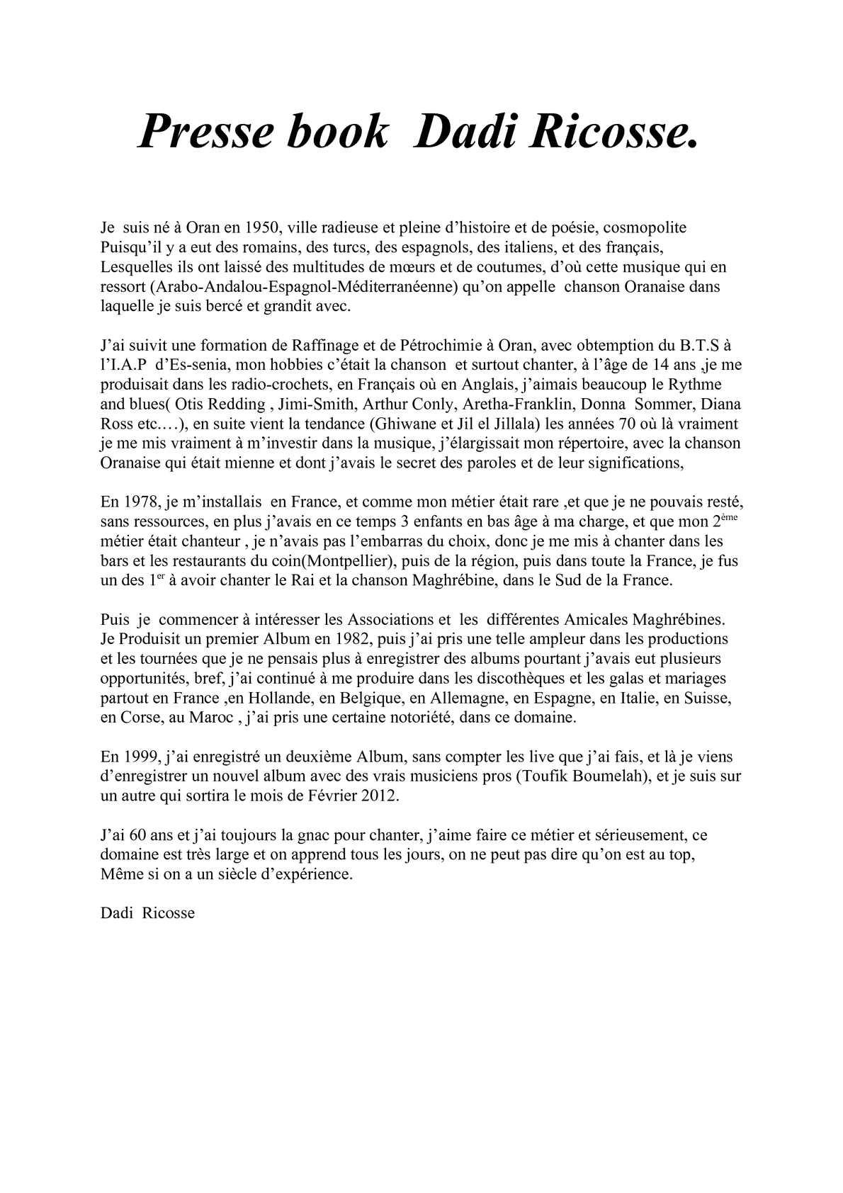 Calaméo Presse Book Dadi Ricosse