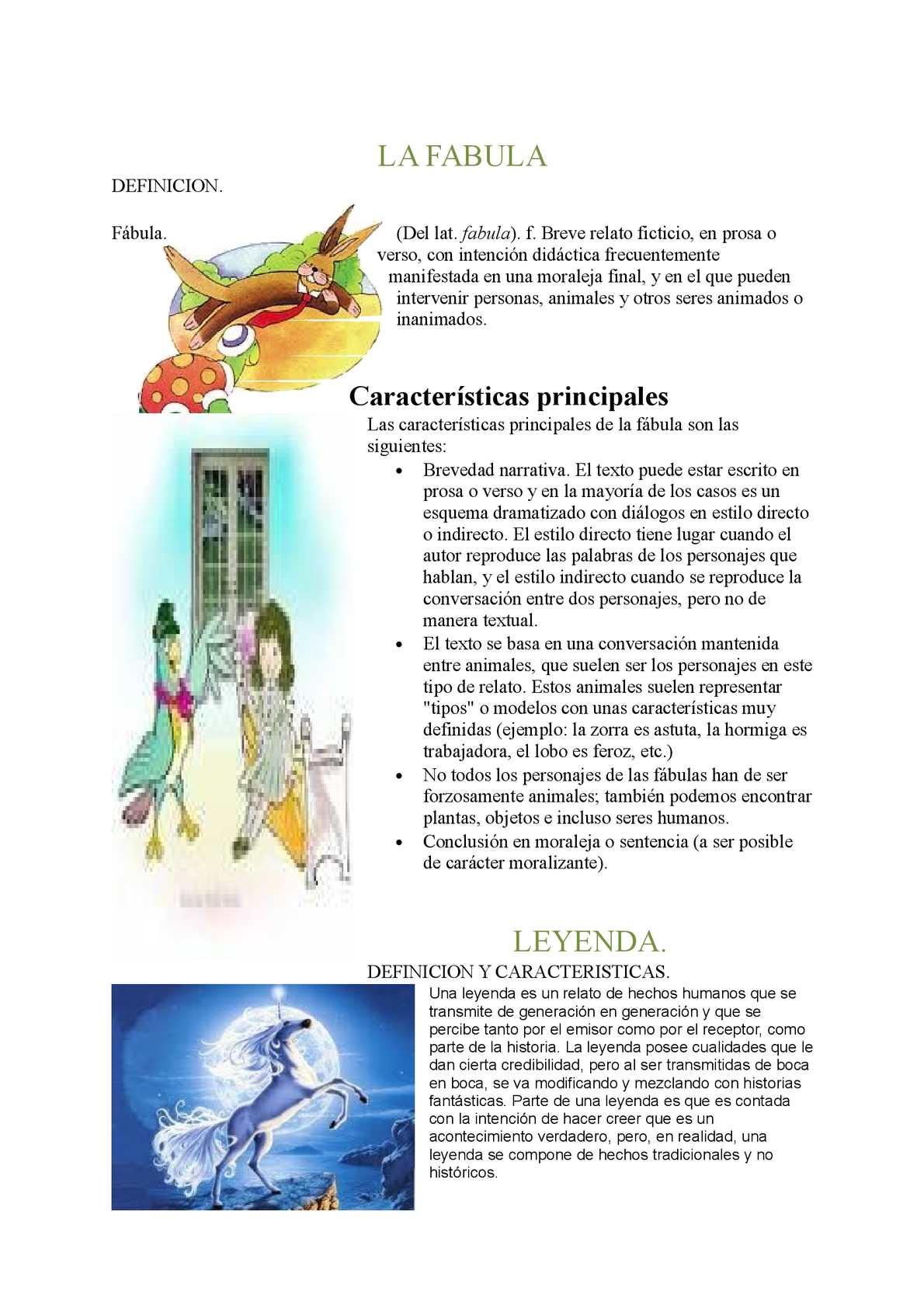 Calaméo Definicion Fabula Y Leyenda