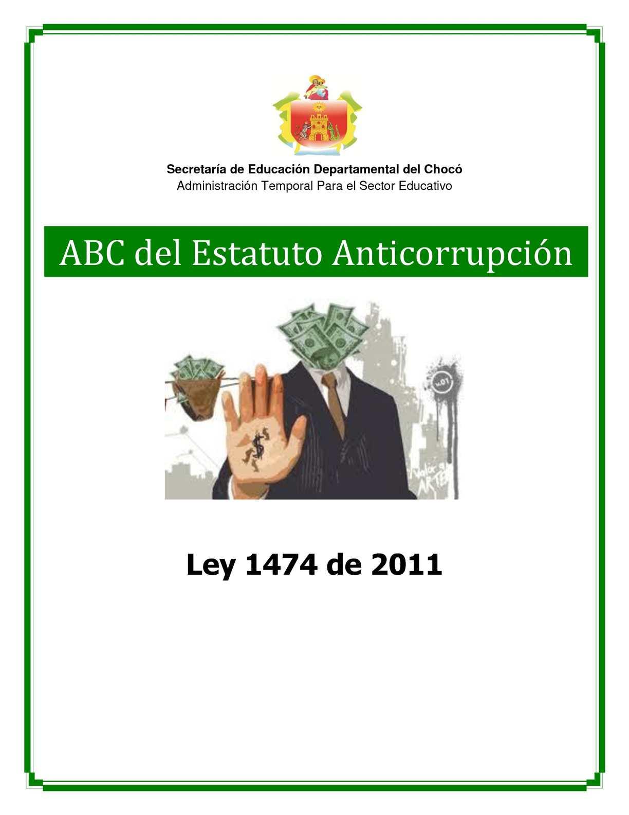 ABC del Estatuto Anticorrupción