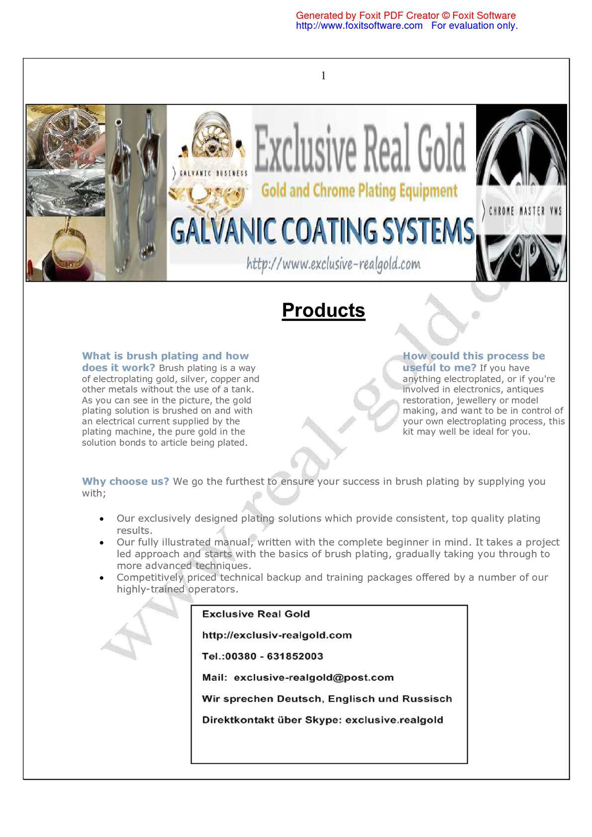 Calaméo - Products for Plating Solutions