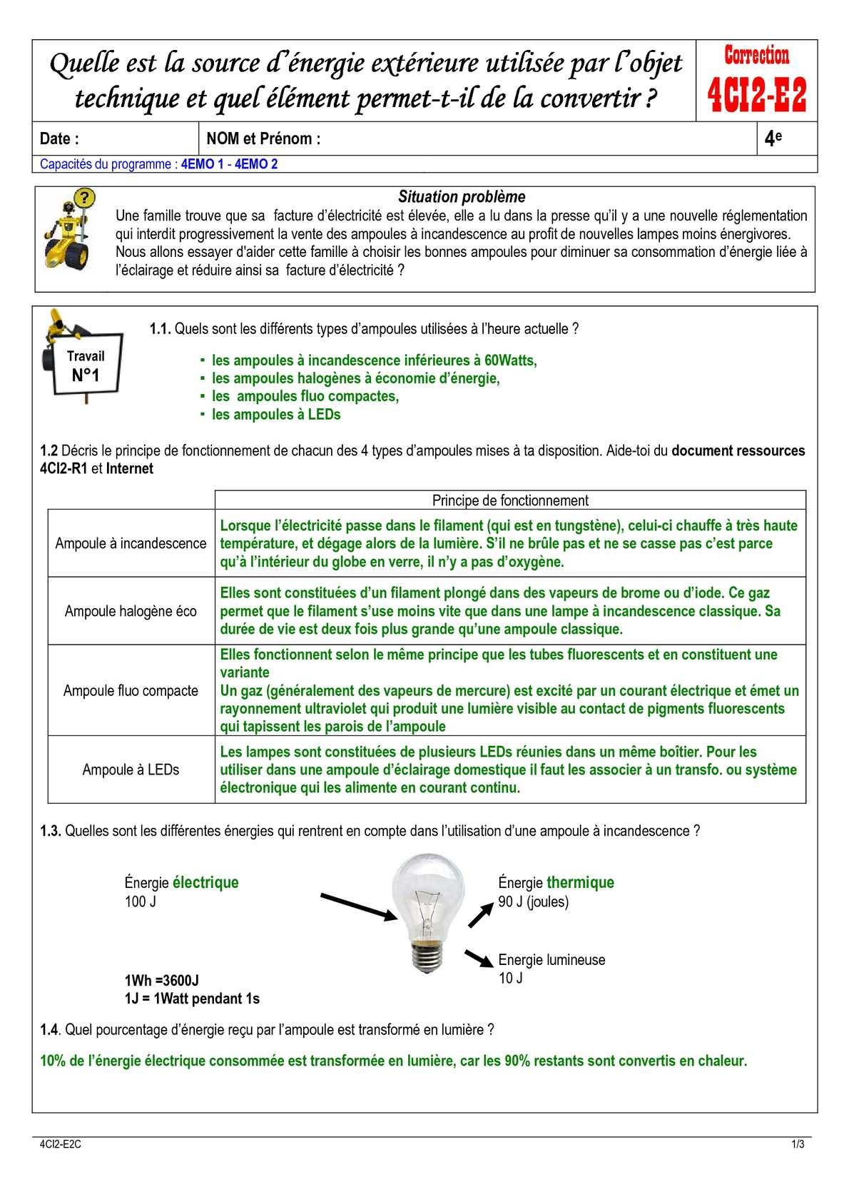 Calameo Correction De La Fiche 4ci2 E2