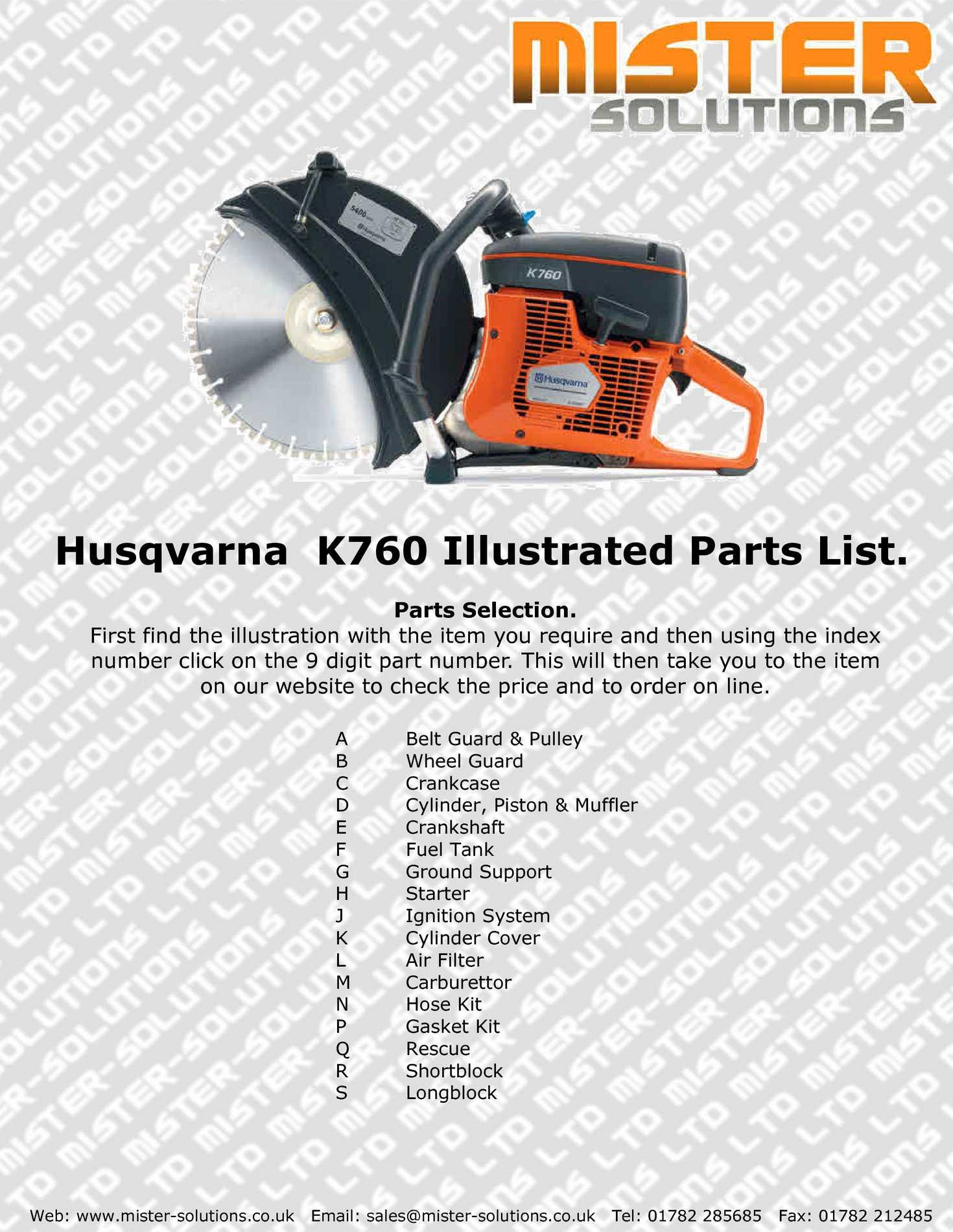 Calaméo - Husqvarna K760 Parts List
