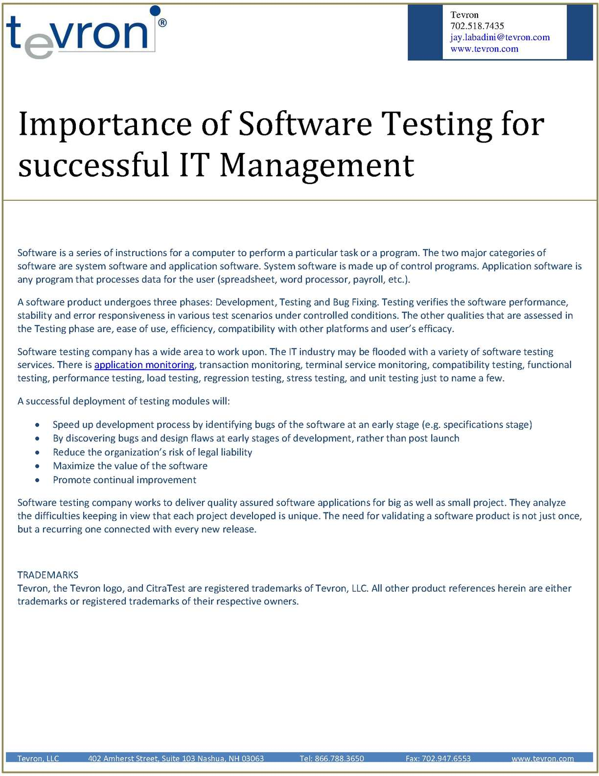 Calameo Importance Of Software Testing For Successful It Management