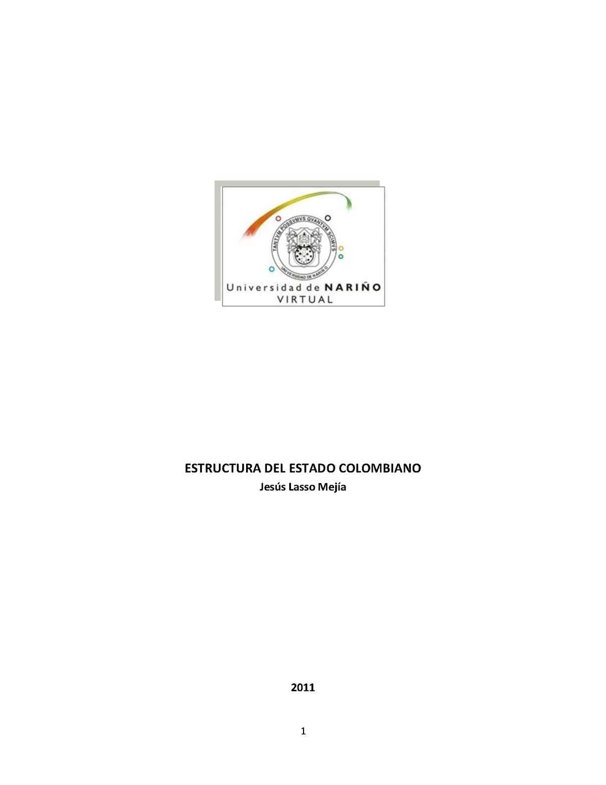 Calaméo Estructura Del Estado Colombiano