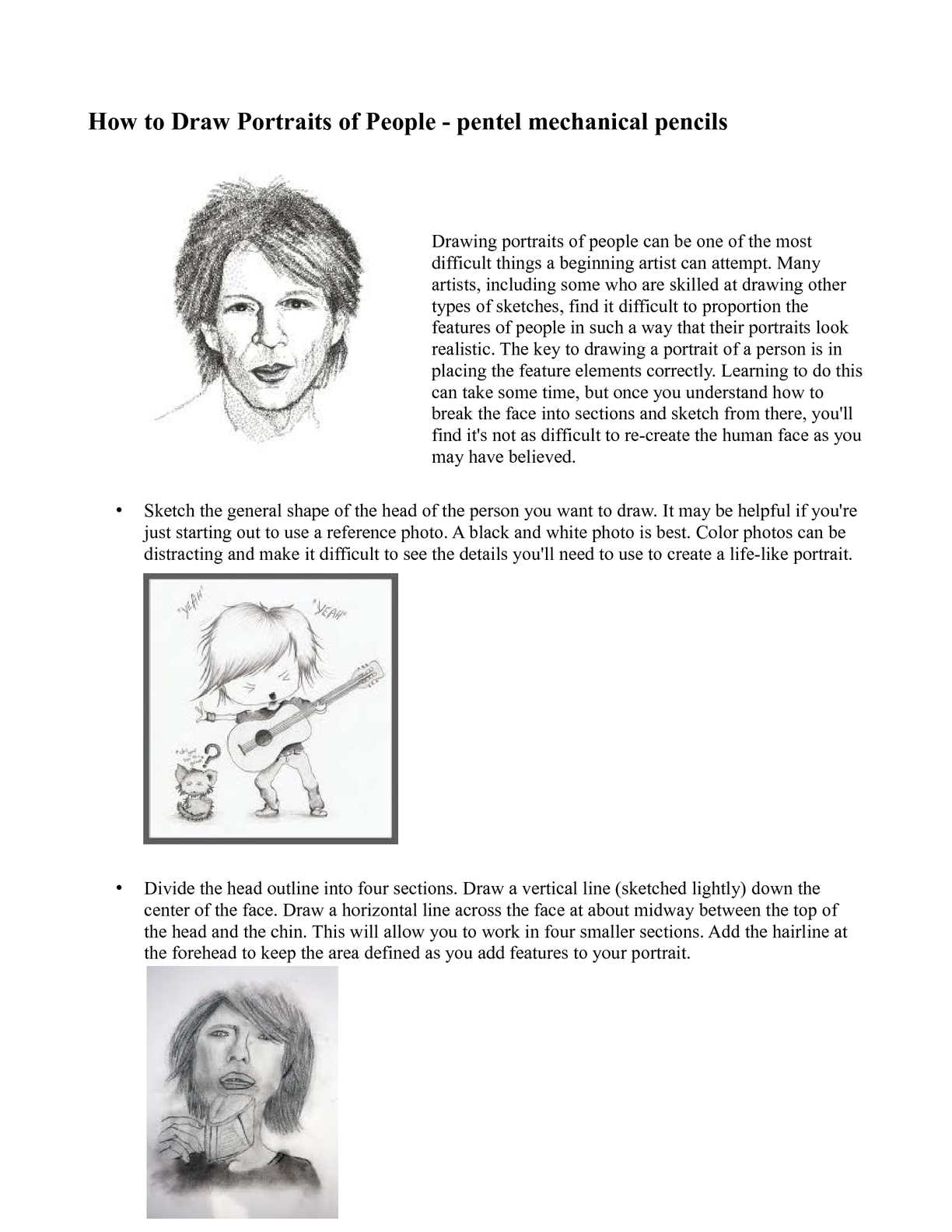 Calaméo - How to Draw Portraits of People - pentel