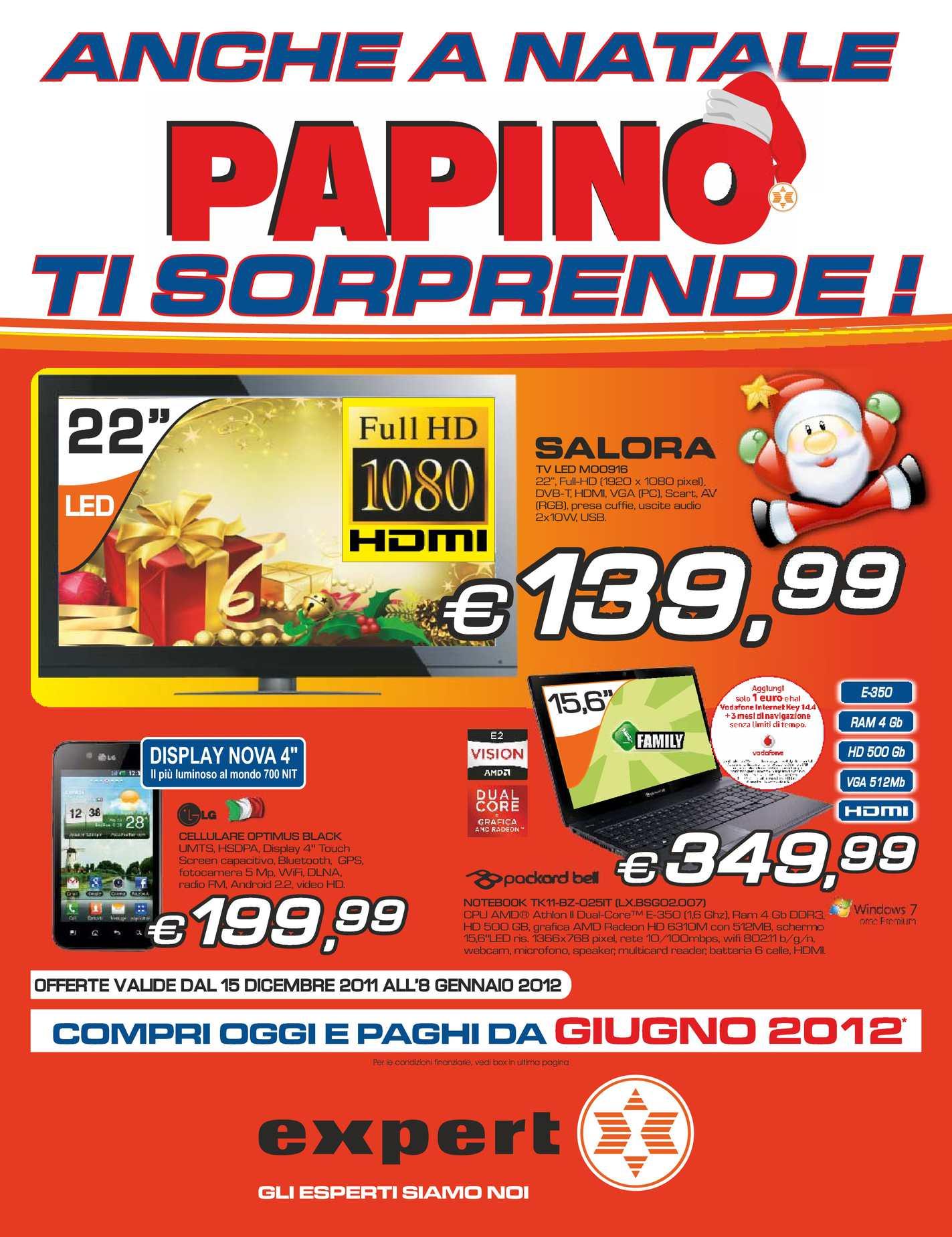 Calaméo - Volantino Expert gruppo Papino dal 15/12/2011 al ...