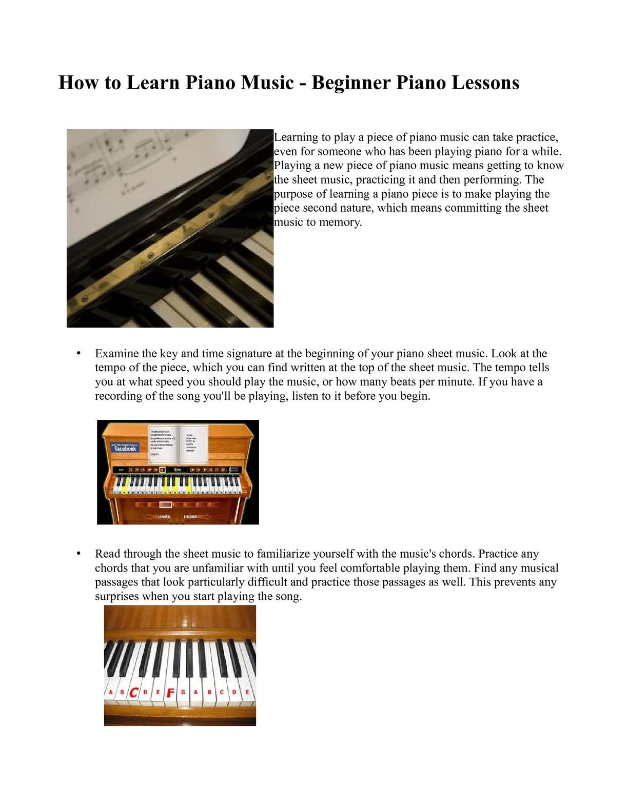 Calaméo How To Learn Piano Music Beginner Piano Lessons