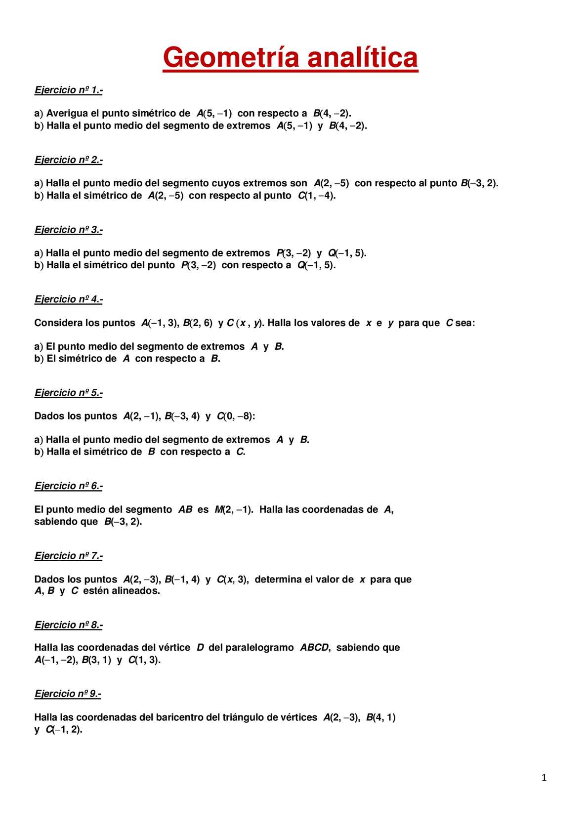 Calaméo 20 Ejercicios Resueltos De Geometria Analitica