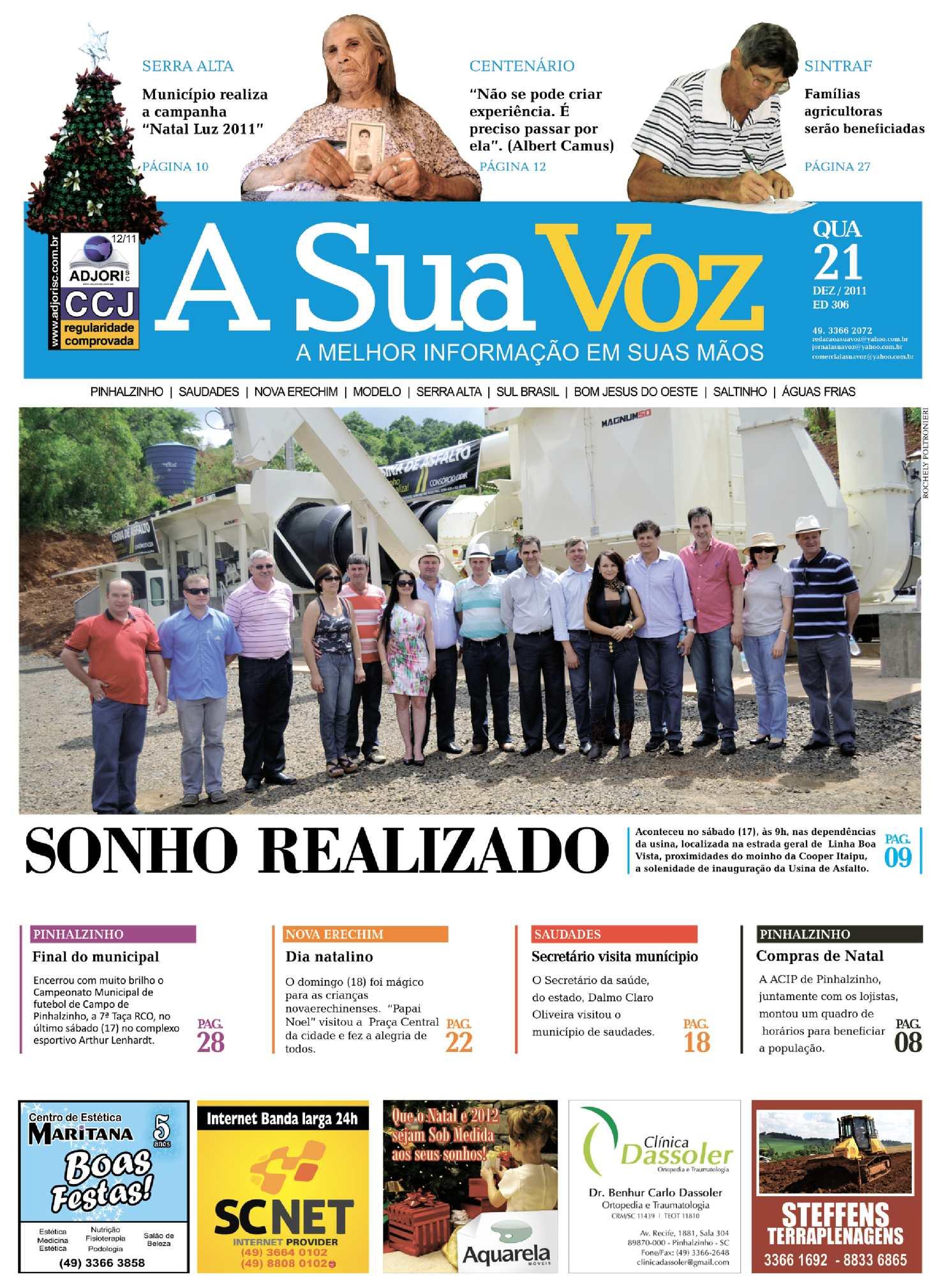 Calaméo - Jornal A Sua Voz - Edição 306 - Novo Projeto Gráfico c799fcee58ca3