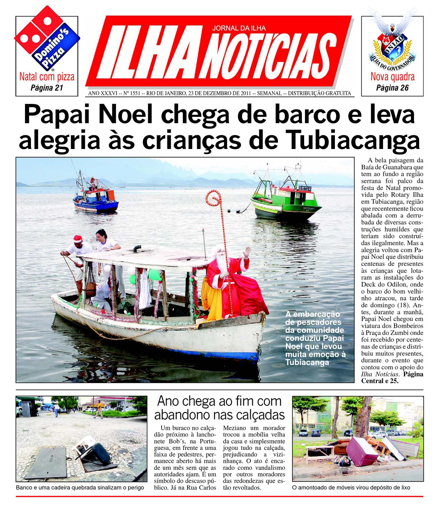 5b487eb03dd Calaméo - Jornal Ilha Notícias - Edição 1551 - 23 12 2011