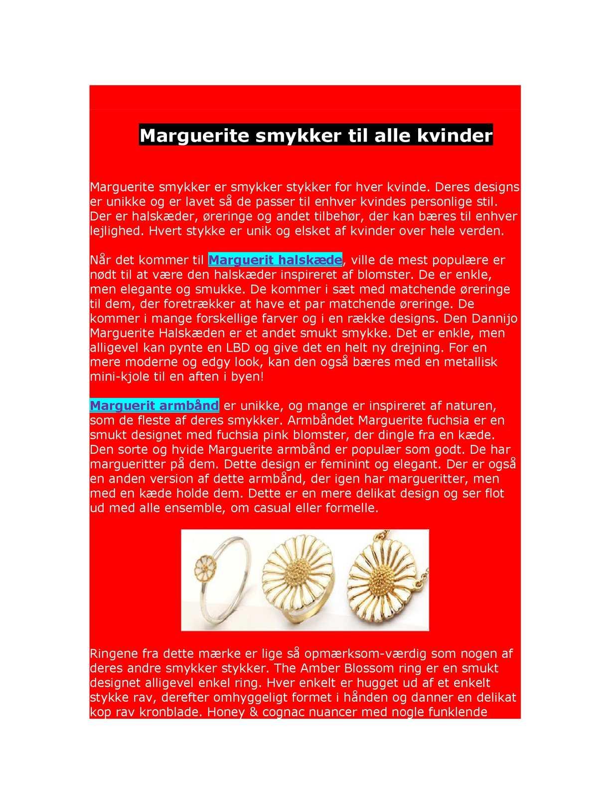 70da1e01c290 Calaméo - Marguerite smykker til alle kvinder