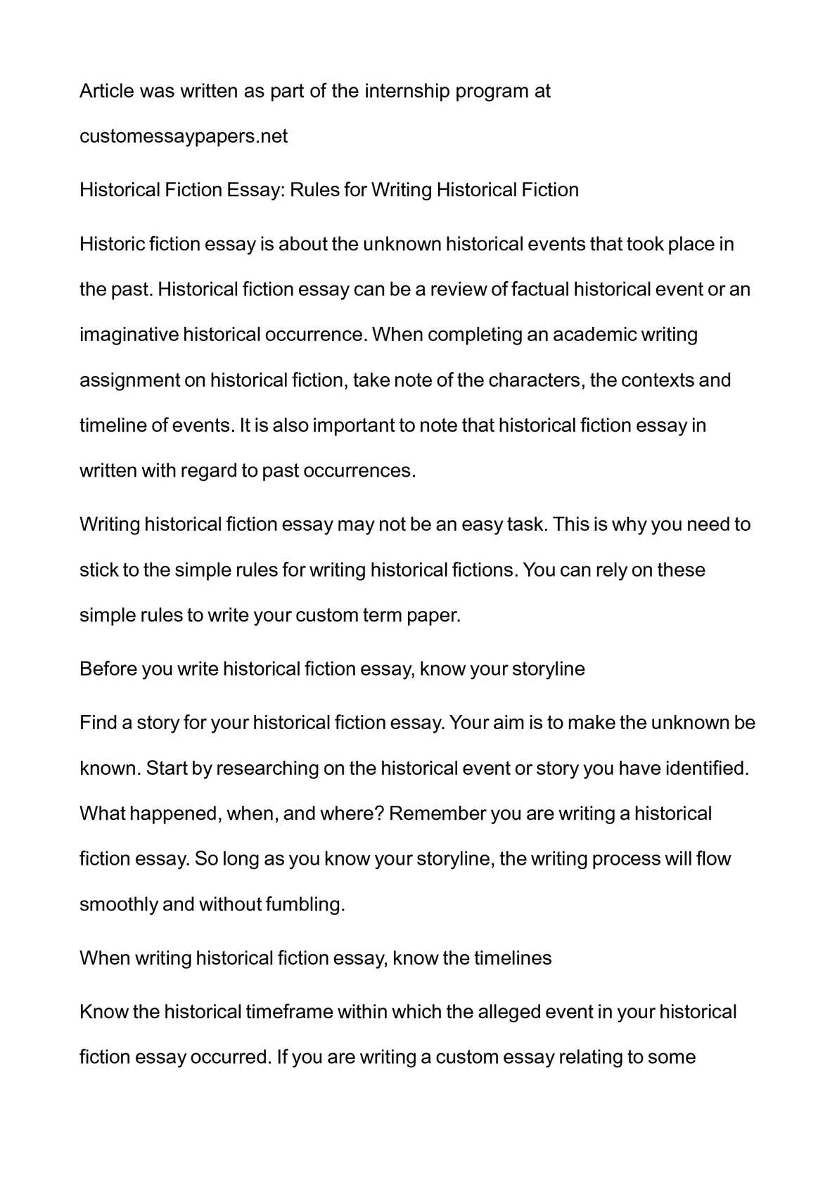 How to write a good historical fiction story double space cover letter