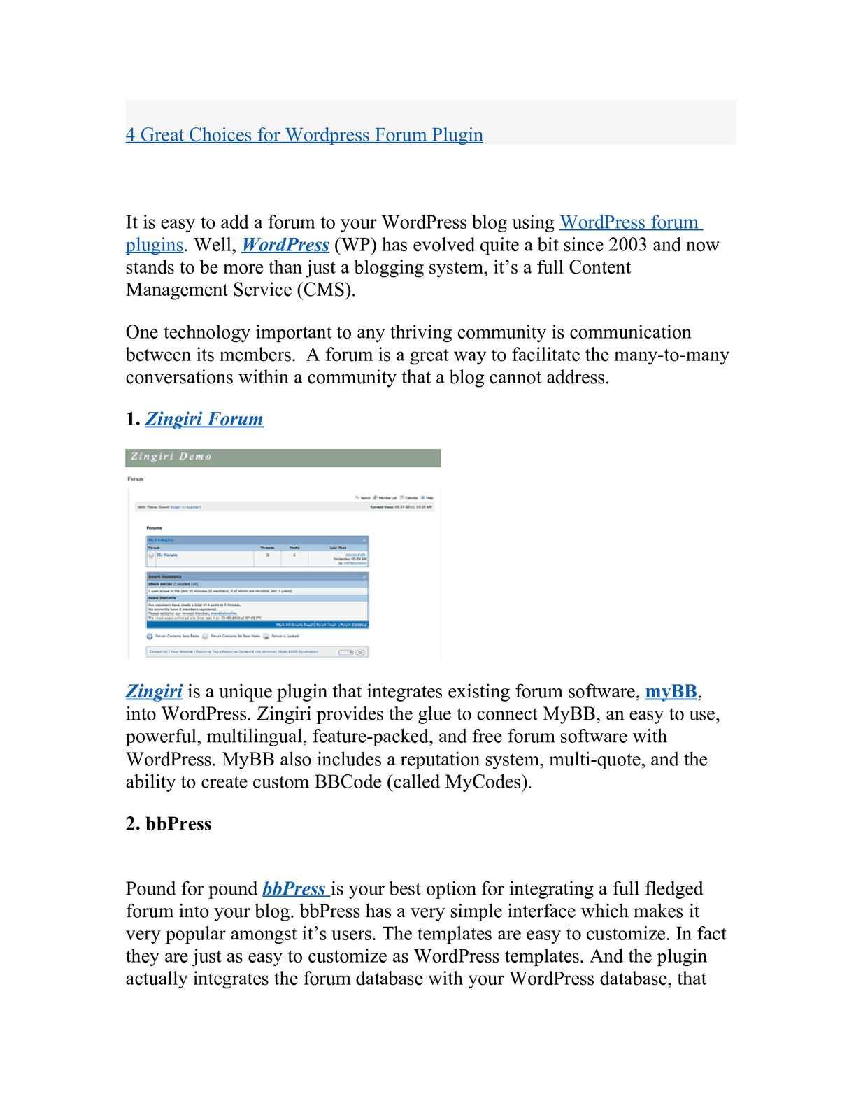 Calaméo - 4 Great Choices for Wordpress Forum Plugin