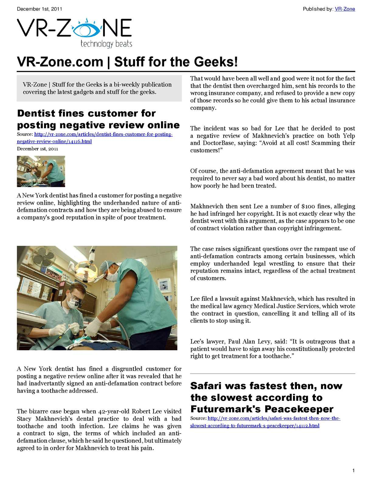Calaméo - VR-Zone Tech News for the Geeks Dec 2011 Issue