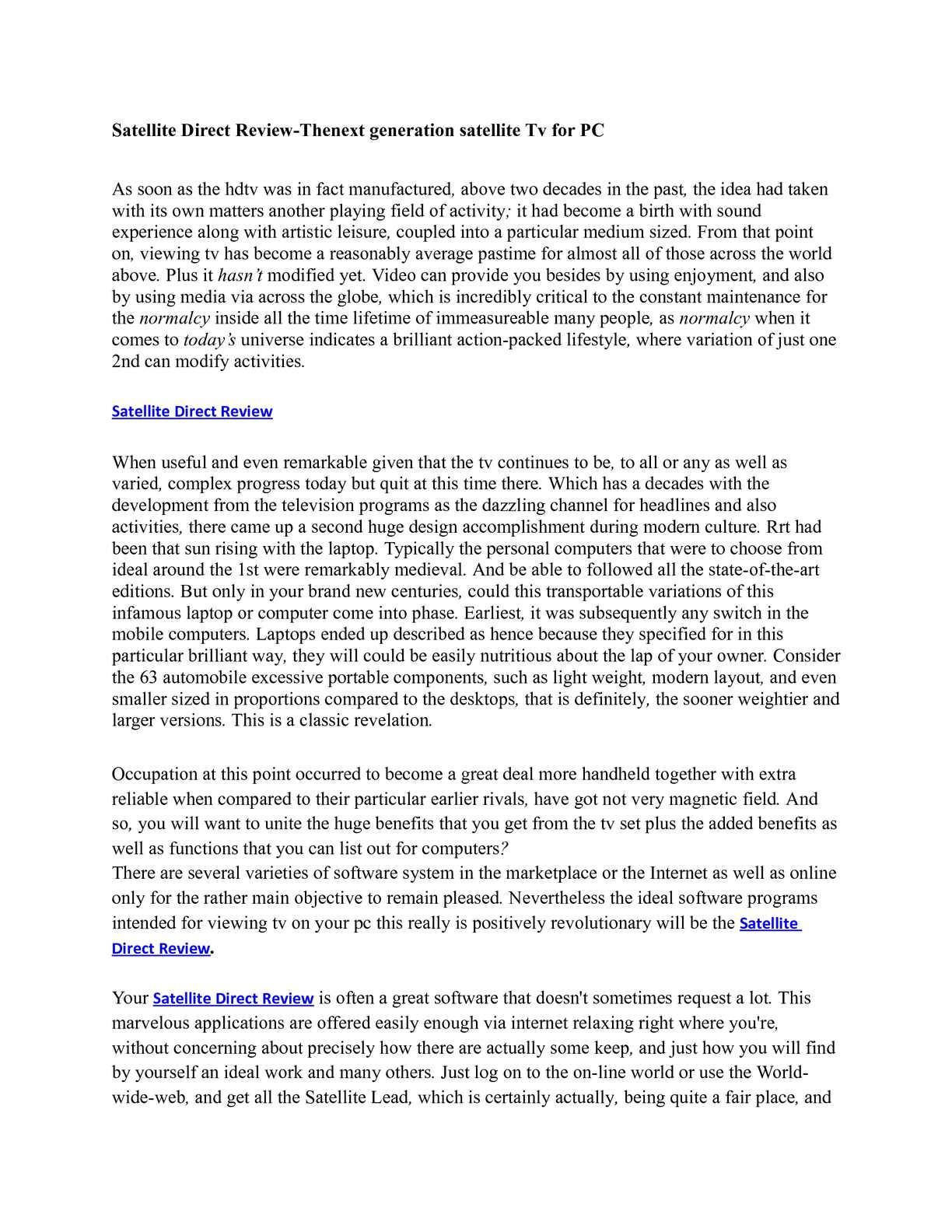 Calaméo - Satellite Direct Review-Thenext generation
