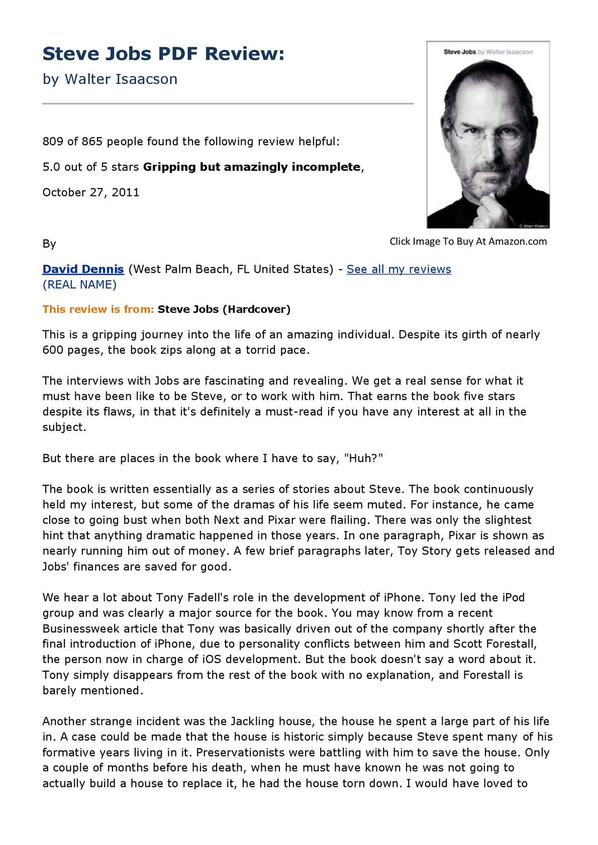 Steve Jobs The Exclusive Biography By Walter Isaacson Pdf