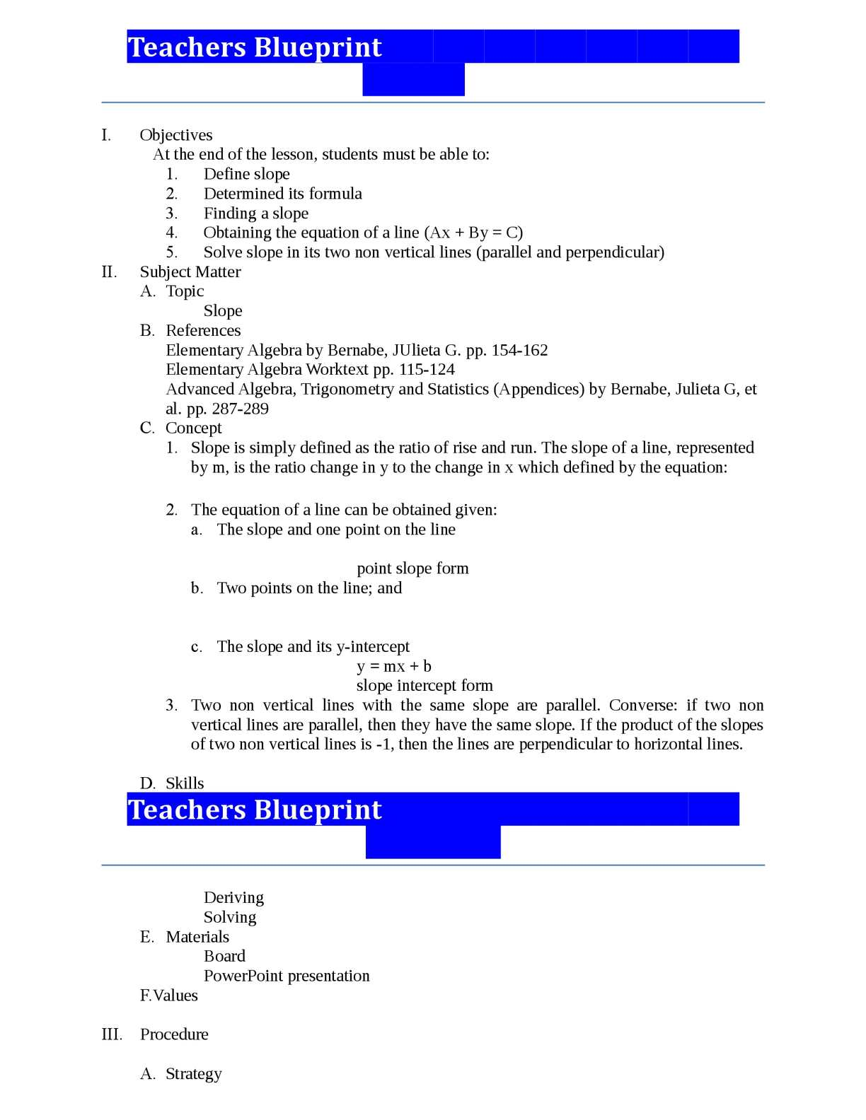 Calaméo Teachers Blueprints Ayen