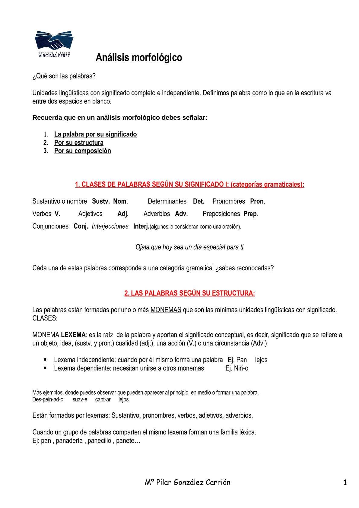 Calaméo Apuntes De Morfología