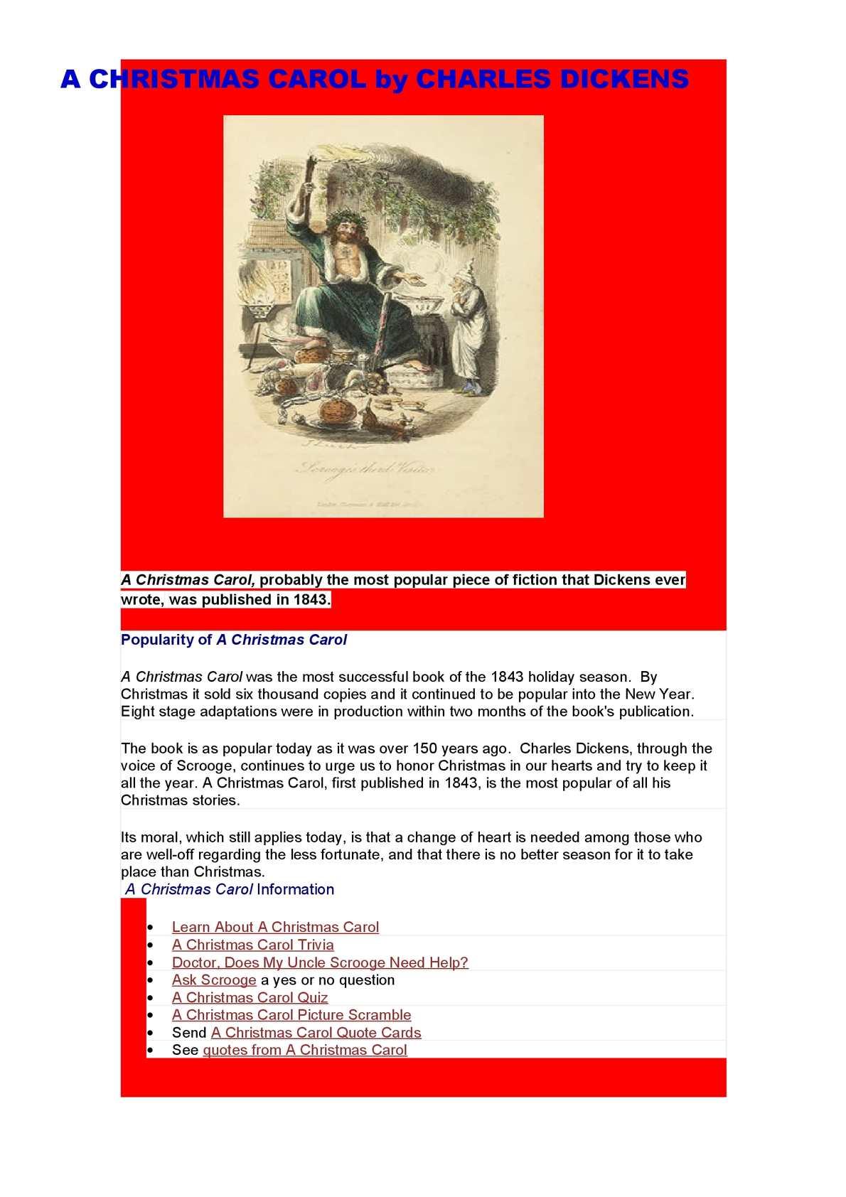 Christmas Carol Trivia.Calameo A Christmas Carol By Charles Dickens