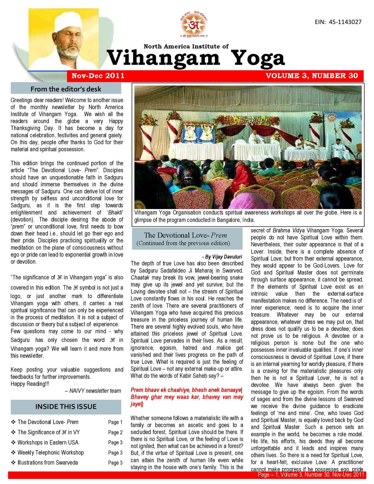 Vihangam Yoga Times international (NAIVY Book 4)