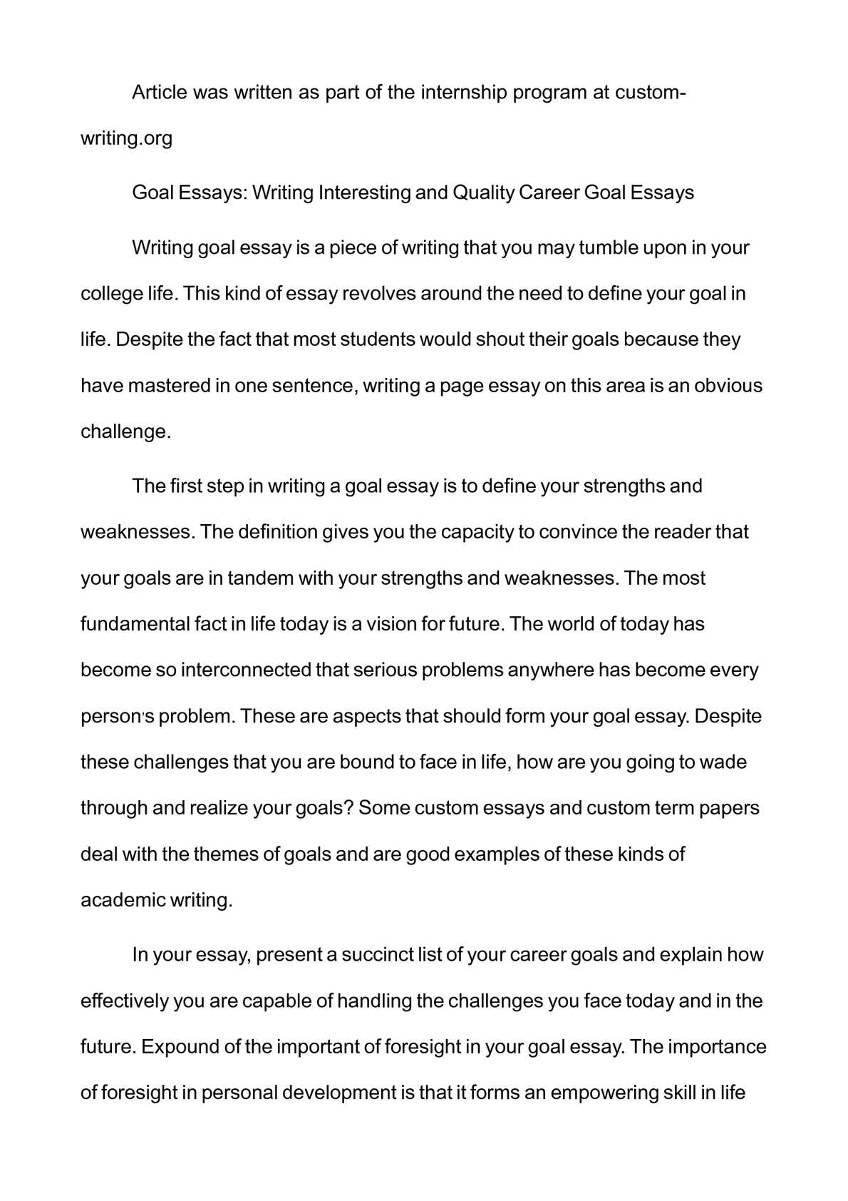 Expository Sample Essay  Smoking Essays also Franklin D Roosevelt Essay Calamo  Goal Essays Writing Interesting And Quality  Fitness Essay