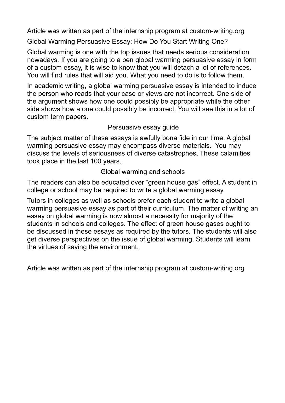 global warming persuasive essay how do you start  global warming persuasive essay how do you start writing one