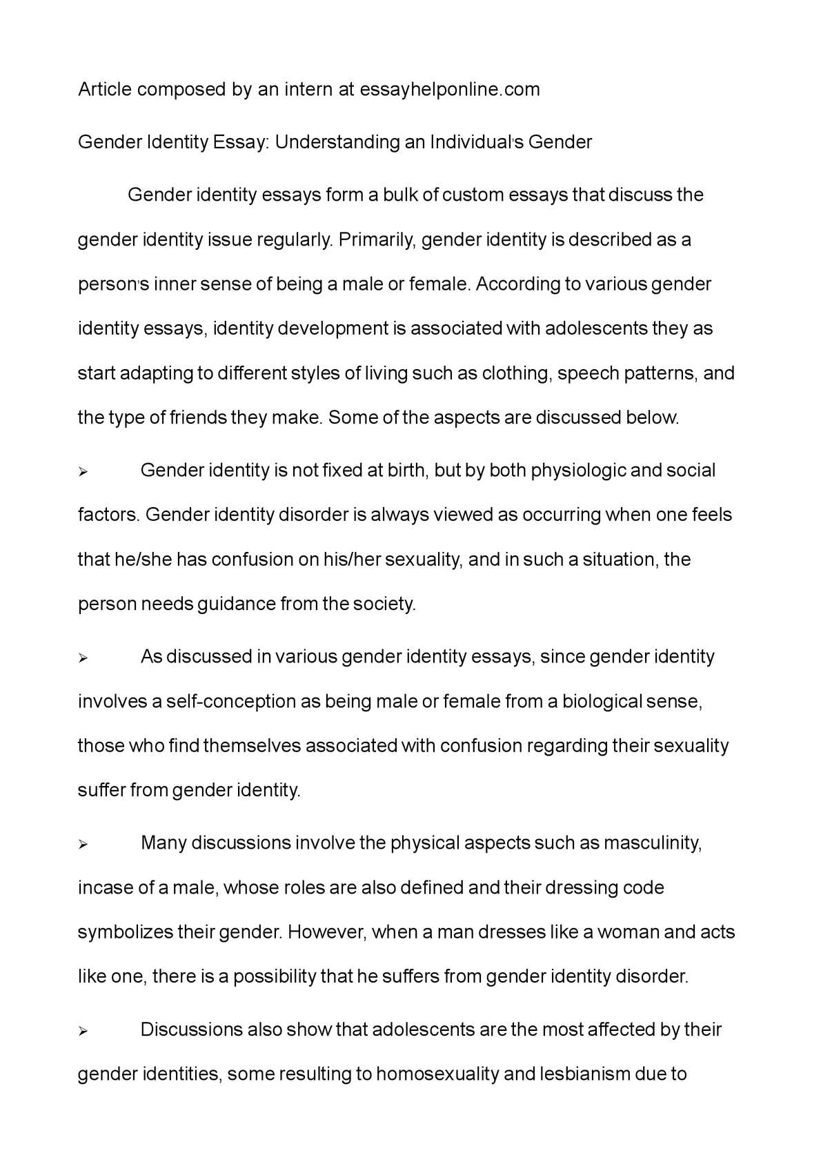 Essays identity concept research paper