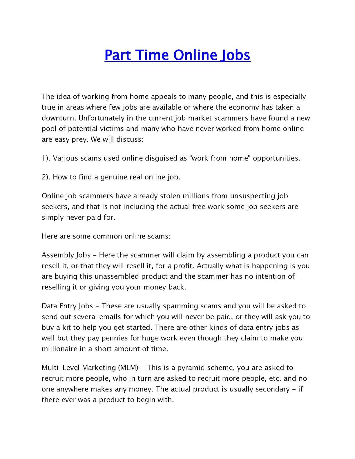 Calaméo - Part Time Online Jobs