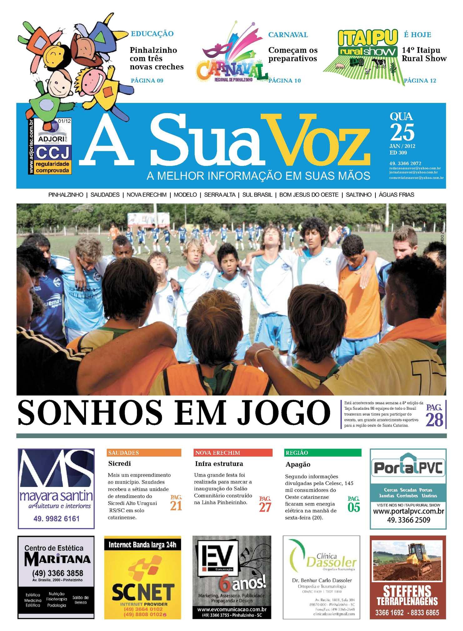 a1b0485256 Calaméo - Jornal A Sua Voz - Edição 309 - 25 de janeiro 2012