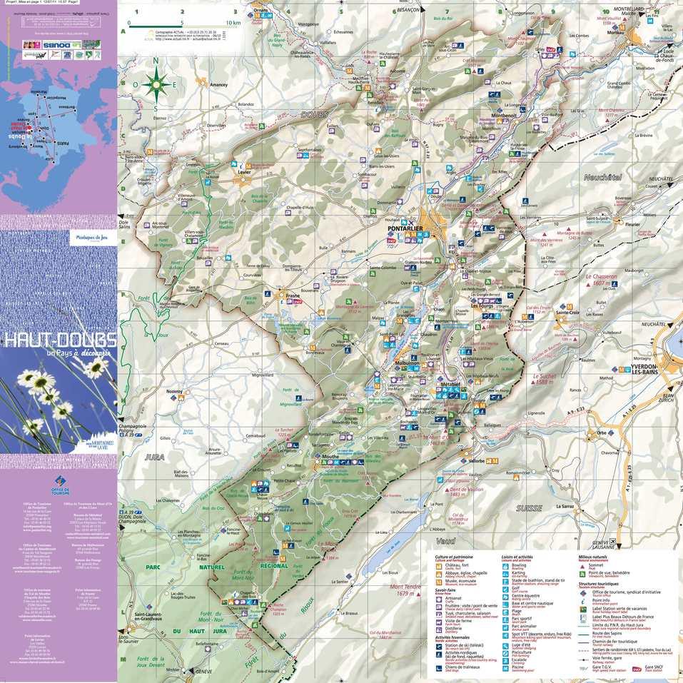 doubs carte touristique