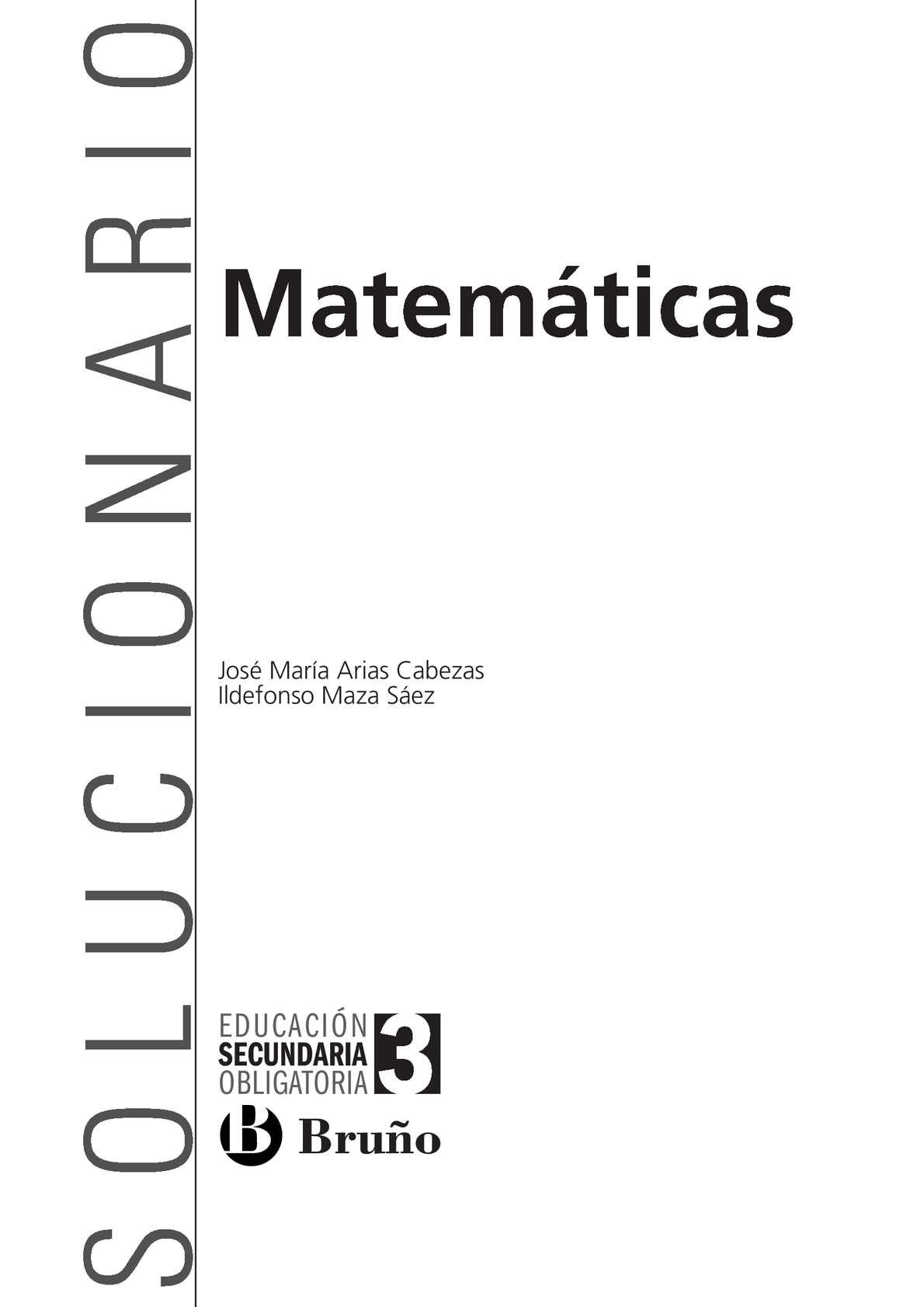 Calaméo - Solucionario Matemáticas 3º de ESO Bruño