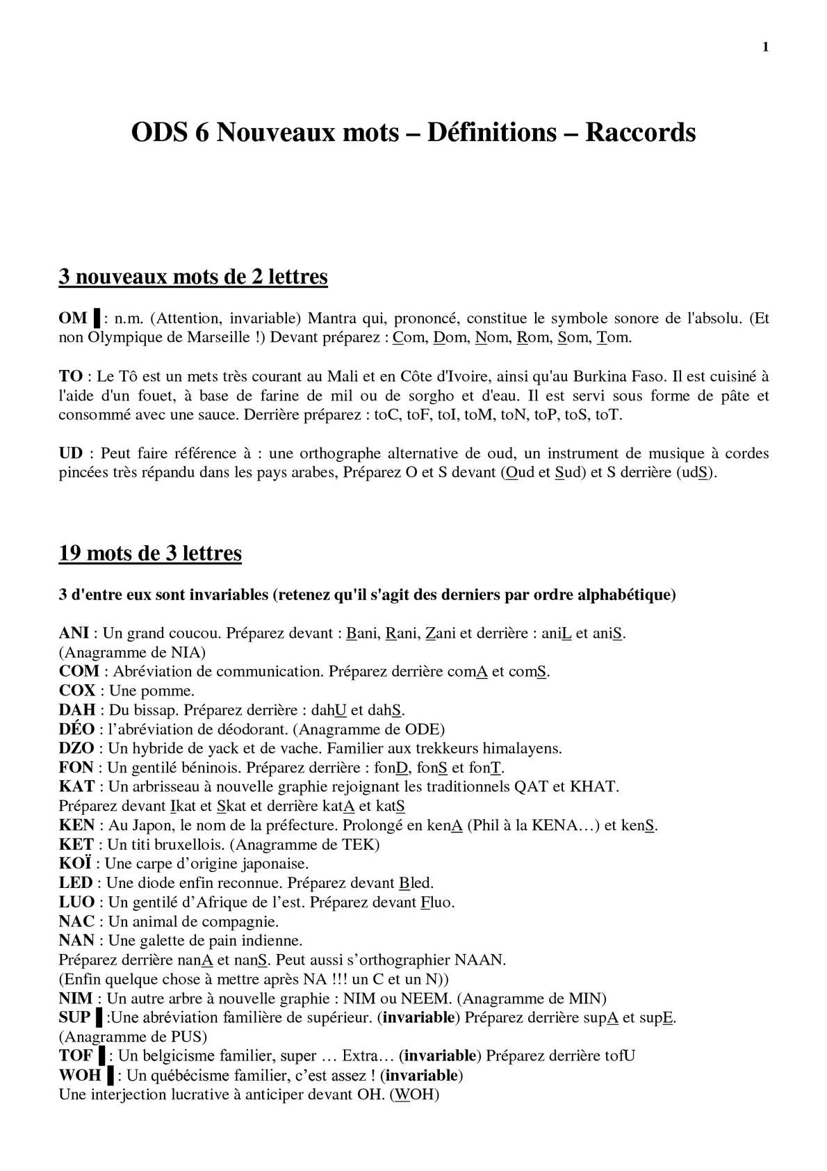 invariable définition synonyme