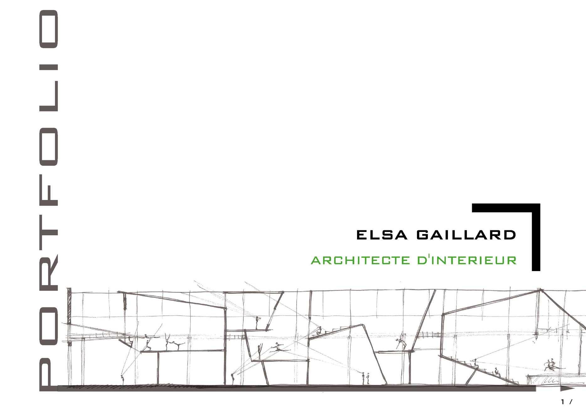 L Architecture D Intérieur calaméo - portfolio - architecture d'intérieur - elsa gaillard