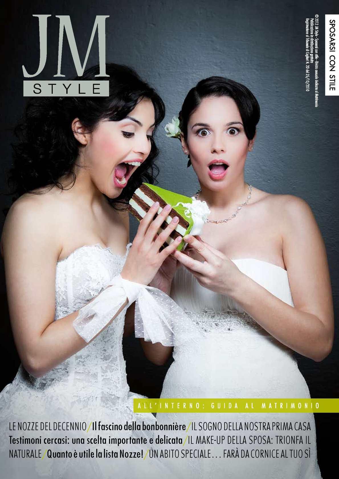 f72933468335 Calaméo - JM style 2012 la rivista del tuo matrimonio