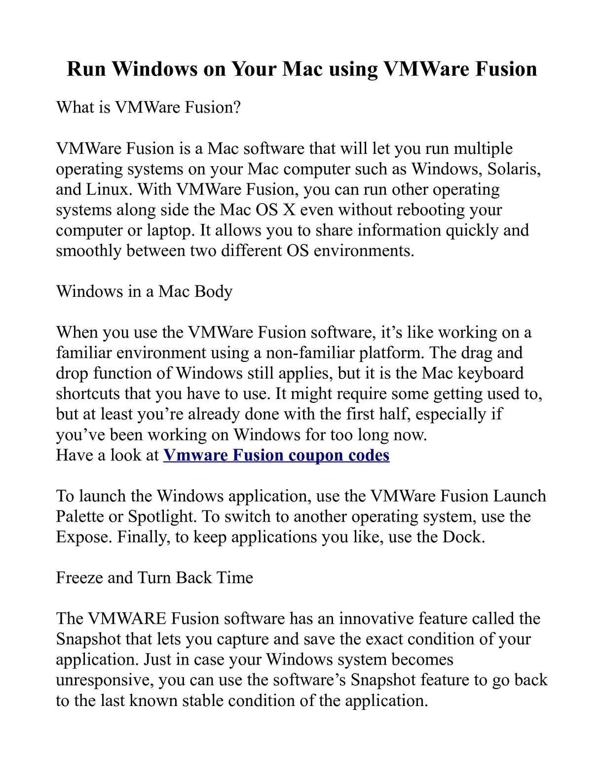 Calaméo - Run Windows on Your Mac using VMWare Fusion